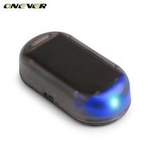 Onever Universal 1PCS Car Led Light Security System Warning Theft Flash Blinking Fake Solar Car Alarm LED Light