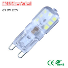 1X 2016 NEW g9 led 5W AC 220V 230V 240V G9 lamp Led bulb SMD 2835 LED g9 light Replace 30/40W halogen lamp light(China)