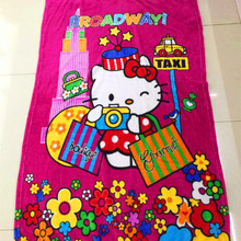 100x140cm Colourful Hello Kitty Baby Children coral fleece blanket super Soft Coral Quilt Plush Towel Air Sleep Cover bedding