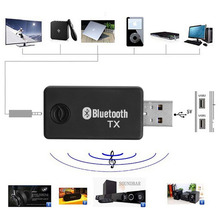 Mini 5V 3.5mm USB Bluetooth Stereo Audio Music Transmitter Adapter for TV MP3 PC