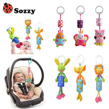 Baby Gift Hand Bell Animal Windbell Rattles windbells animal shape bed/car hanging bells educational toys plush dolls - Cute Kids Zone store