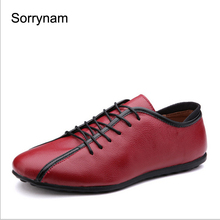 SORRYNAM Men casual shoes genuine leather flats shoes waterproof outdoor shoes men fashion walking shoes Zapatos Hombre ML20319