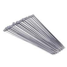 22Pcs/11Sizes 35cm Stainless Steel Knitting Needles Set Single Pointed Knitting Needles DIY Sweater Yarn Weave Craft Tool(China)