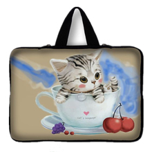 "2015 Cat Laptop Computer Bag Notebook Smart Cover For ipad MacBook Laptop Sleeve Case 15"" 15.4"" 15.5"" 15.6"" Laptop Bag#10(China)"