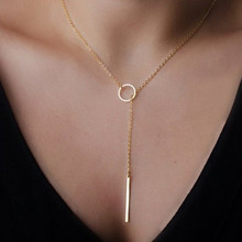 Women's Fashion Simple Pendants Chains Necklace ND303(China)