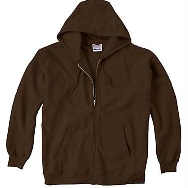 F280 Ultimate Cotton Fleece Full-Zip Adult Hoodie Size 3XL Dark Chocolate Brown (1)