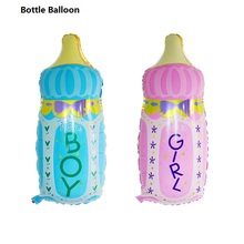 1Pcs Boy Girl Baby Shower Foil Giant Feeding Bottle Balloons Christening Birthday Party Decor Supplies Child's Gifts 6CX266(China)
