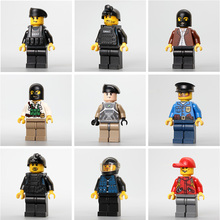 Amamzing colorful plastic toy mini building blocks for kids Special police military police import favorable bricks good quality