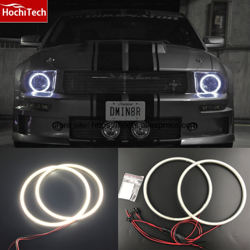 HochiTech Ultra bright SMD white LED angel eyes 2000LM 12V halo ring kit daytime running light DRL for ford Mustang 2005 - 2009<br>
