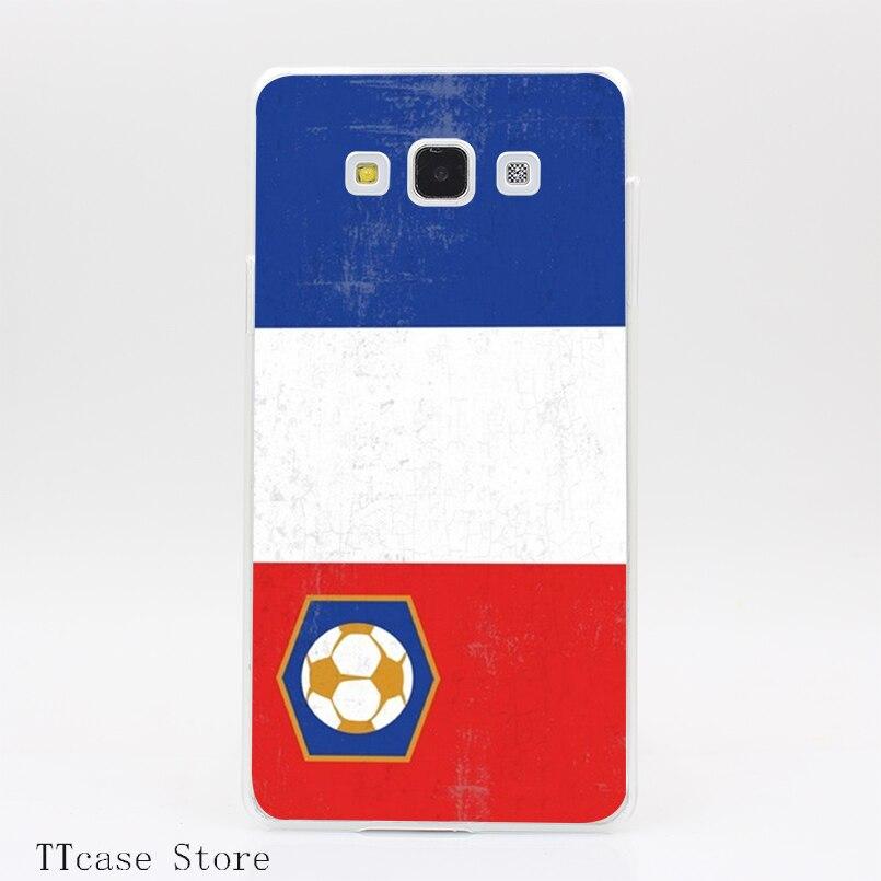 3184CA Soccer Flag France Transparent Hard Cover font b Case b font for Galaxy A3 A5