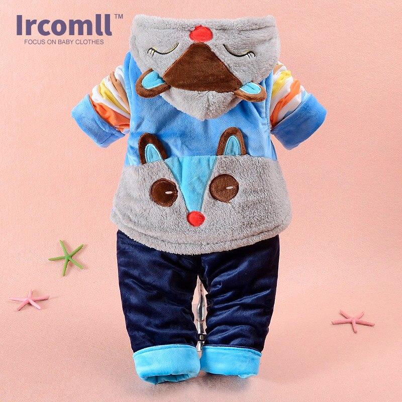 2016 Hight Quality Baby Clothes Fox Autumn Winter Vestido Infantil Vest+Coat+Pants 3 piece suit Children Clothing Cute Outfit<br>