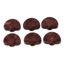 Yibuy 6pcs Guitar Machine Head Buttons Red Pearl Tuning Key Semicircle Buttons(China)