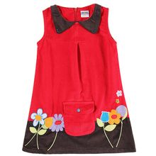 retail brand clothing summer kids children sleeveless pocket floral girl dress 2016 new nova design baby girlsclotheschild wear(China)