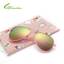 2017 New Fashion Children Sunglasses Boys Girls Kids Baby Child Sun Glasses Goggles UV400 Mirror Glasses Wholesale Price(China)