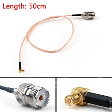 Sale 50cm Cable MCX Male Plug Right Angle To SO239 UHF Female Jack RG316 20in Pigtail High Quality Mini Jackplug Wire Connector
