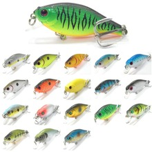 wLure Crankbait Wide Wobble Slow Floating Tank Tested 6.5cm 5.5g Hard Bait Fishing Lure C547(China)