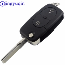 jingyuqin 5ps/lot 2 Buttons Folding Flip Remote Car Key Styling Blank Cover Case Fob Case Shell Pad For Audi A2 A3 A4 A6