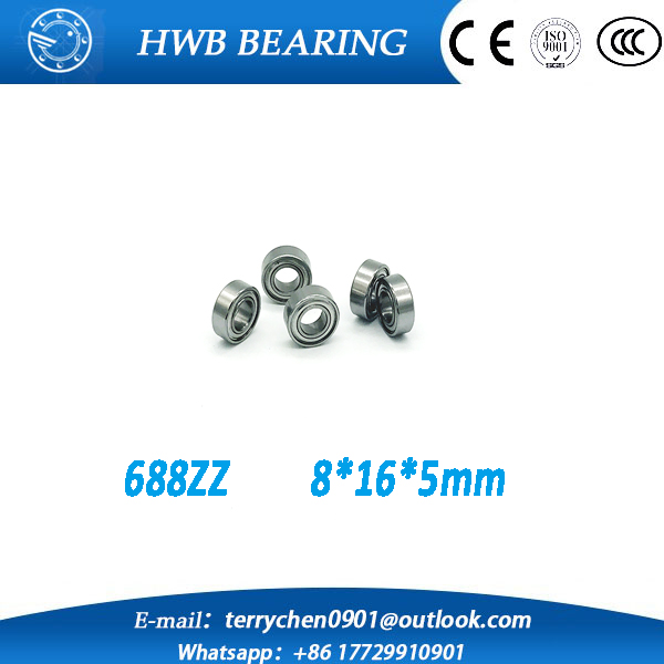 Free shipping  10pcs 688ZZ 688Z 688 688-2Z  8*16*5 Miniature Ball Radial Deep Groove Ball Bearings L1680ZZ<br><br>Aliexpress