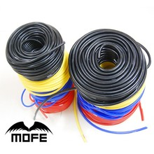 MOFE new fashion Racing car 10Meter 4mm Silicone Racing tubing Vacuum Hose Color Red Black Blue Yellow(China)
