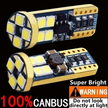 2PCS 100% CANBUS NO ERROR T10 LED Car Parking Light 500LM Super Bright 3030 SMD W5W Auto Reading Lamp WY5W Wedge Tail Side Bulb