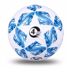 High Quality Official Size 5 Standard PU Soccer Ball Training Football Balls Training ball With Gift Net Needle Blue Green Pink(China)