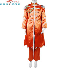 The Beatles Sgt. Pepper's George Harrison Uniform Orange Long Cape Jacket Halloween Cosplay Costume Music Festival Clothe