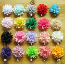 2.8 inch Chiffon Flower alternative chiffon hair flowers WITHOUT clips DIY garment accessories 40pcs/lot