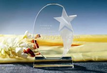 Pretty popular trophy customized new design top quality with star crystal trophy(China)
