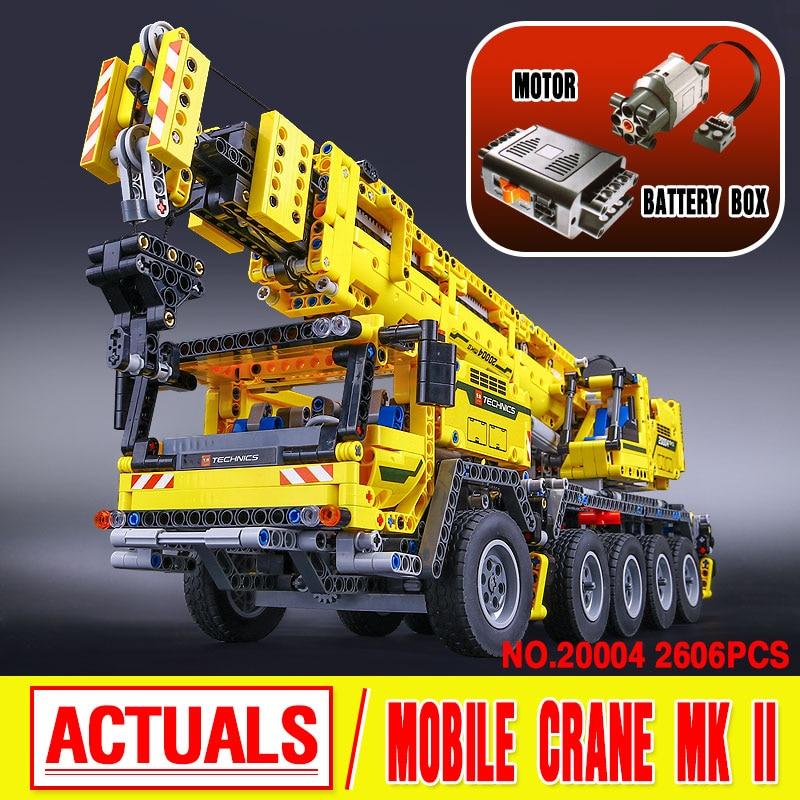 LEPIN 20004 Technic Motor Power Mobile Crane Mk II Model Building Kits  Blocks Toy Bricks compatible with 42009<br><br>Aliexpress