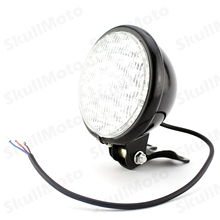 "5"" Universal Black LED Motorcycle Headlight Head Lamp For Harley Honda Yamaha Suzuki Kawasaki"