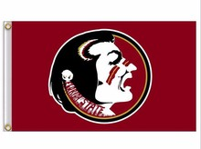 Florida State Seminoles Flag 3ft x 5ft Polyester NCAA Banner Flying Size No.4Florida State Seminoles 150* 90cm Custom flag(China)