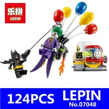New Genuine Batman Movie Series LEPIN 07048 124Pcs The Joker Balloon Escape Set 70900 Building Blocks Bricks Educational Toys(China)