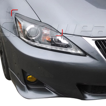 Car-styling Carbon Fiber Front Headlight Cover Eyelid Eyebrow For Lexus IS250 IS300 2006-2012