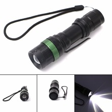 Super Bright LED Flashlight Pen Light 3800 Lumen Torch Lamp XM-L T6 3 Modes Dimmable LED Light for Hunting Camping Outdoors