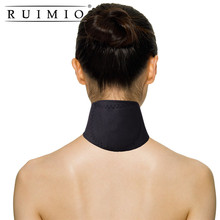 Magnetic Therapy Thermal Self-heating Neck Pad Belt Neck Support Brace Protector Black Massager Cervical Vertebra Protection(China)