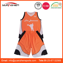 Club promotional basketball wear with custom logo for sale
