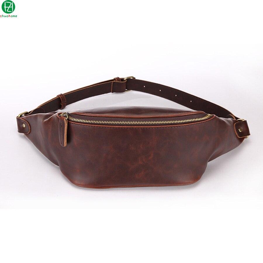 Unique design carzy horse leather chest packs fashion men shoulder bag vintage men travel bag waist packs men crossbody bags<br><br>Aliexpress