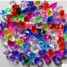 free shipping 100pcs/lot colorful acrylic ice shape plastic jewel childen toys DIY Imitation crystal vase / Aquarium