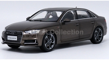 Brown 1:18 Car Model All New Audi A4L A4 B9 2017 Diecast Collection Luxury Vehicle