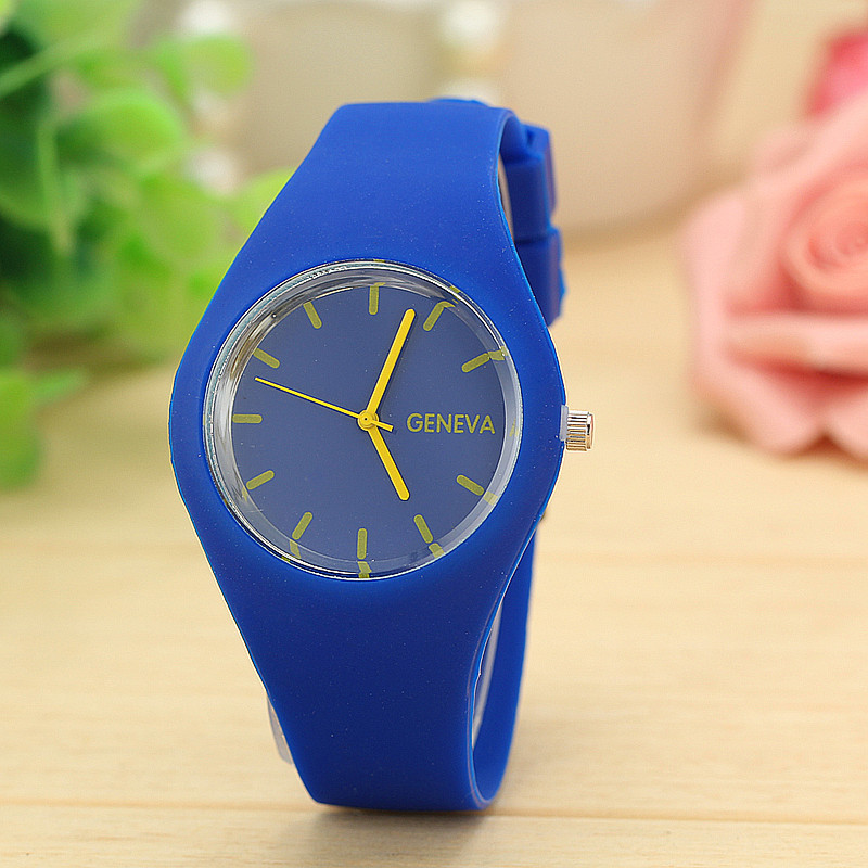 Geneva Watches Silicone-Strap Sports-Jelly Christmas-Gift 12-Candy Colours Top-Brand title=