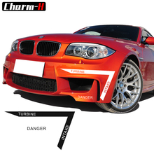 Car Front Bumper TURBINE INTAKE DANGER Sticker Vinyl Decals For bmw e90 e46 e39 e60 e84 z4 f30 f10 f11 f20 f34 x5 e70 f15 x6 f16(China)