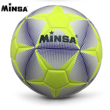 2017 New Brand MINSA High Quality A++ Standard Soccer Ball PU Soccer Ball Training Balls Football Official Size 5 race dedicated