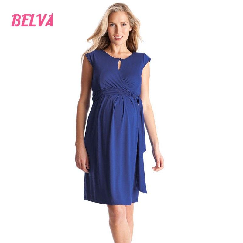 Belva 2017 Elegant breastfeeding clothes for pregnant women grace pregnancy clothes Bamboo Fiber maternity nightdresses DS116<br>
