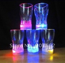 Free shipping 48pcs/lot 350ml/12oz color changing led flashing shot cup led glass flashing beer cup for partyt supplies