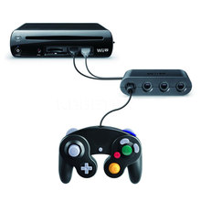 1 x Replacement Gamecube Controller Adapter Converter 4 ports Game controls Hub GameCube controllers for WiiU Video