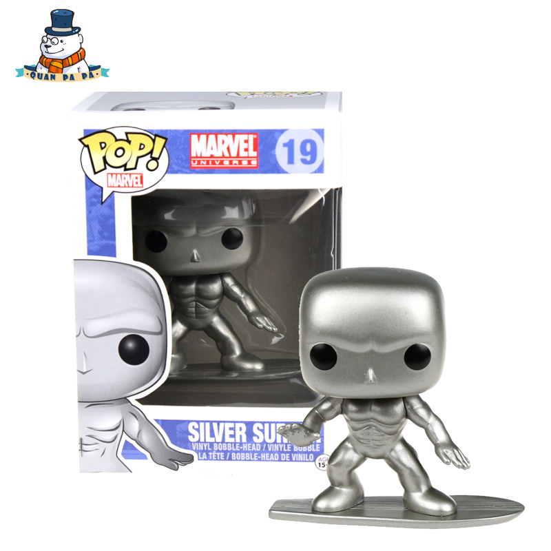 [QuanPaPa] New Genuine FunKo POP Silver Surfer 19 Model Action Figurine doll car Decoration kids toys<br><br>Aliexpress