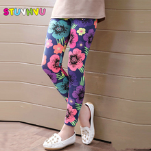 Hot selling 2016 Spring flower girl pants baby girl leggings kids fashion legging children pant girls' leggings(China)
