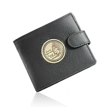 Pharaoh Pattern Texture Black Real Genuine Leather Wallet Mens Bifold Zipper Pocket Credit Card for Clutch Pouch Purse portfel(China)