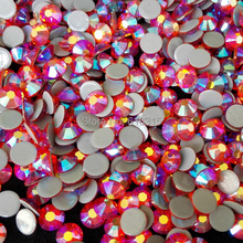 DMC SS 16  hot fix rhinestone light siam AB  for fashion gir clothes by China post air mail free shipping