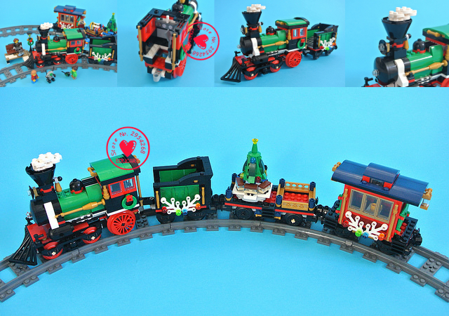 2018 Creative Winter Holiday Train set model Building Blocks Bricks Educational Toys 10254 compatiable legoes gift kid Christmas<br>